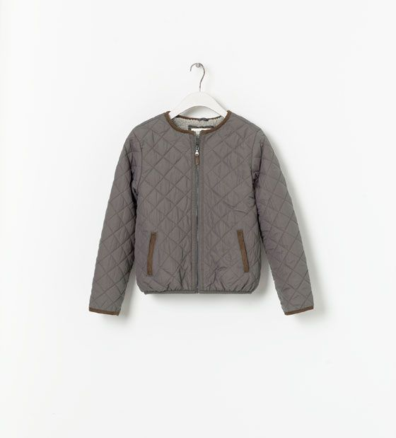 CONTRASTING QUILTED JACKET - Coats - Girl (2 - 14 years) - Kids   ZARA United States
