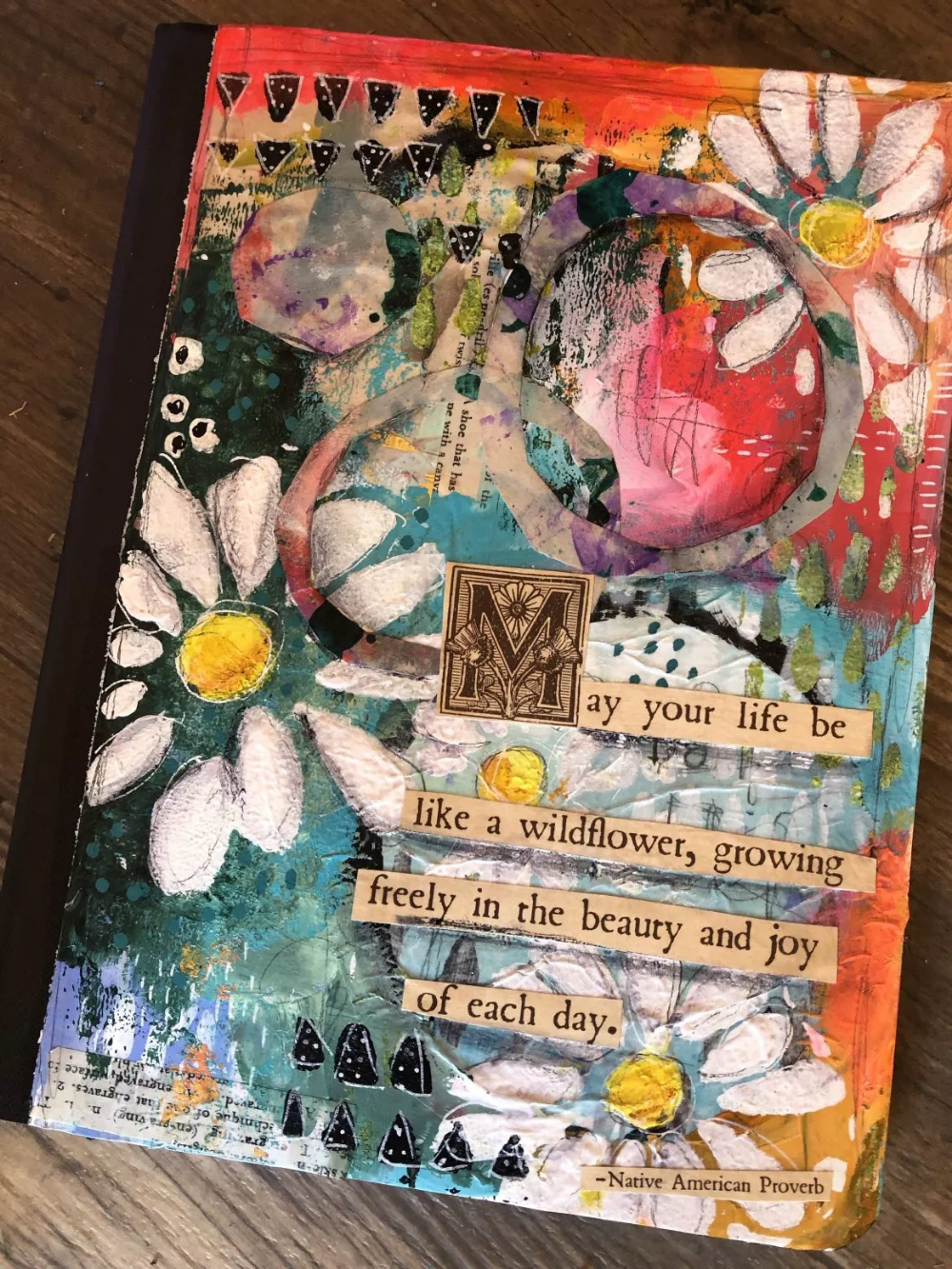 Wildflower Art Journal cover by CT-Shannon Beesley #artjournalmixedmediainspiration