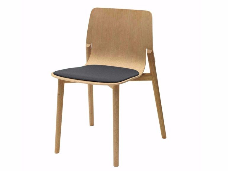 Sedia Imbottita Design : Sedia imbottita impilabile in legno kayak soft 049 by alias design