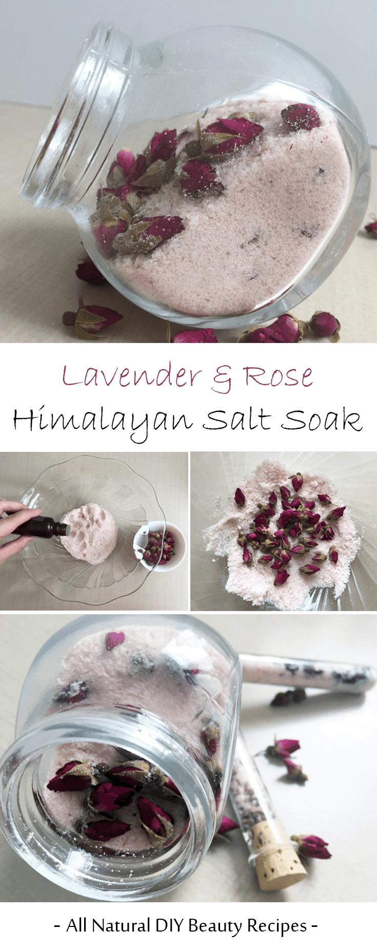 Homemade DIY Lavender And Rose Himalayan Salt Soak - Pamper yourself ...