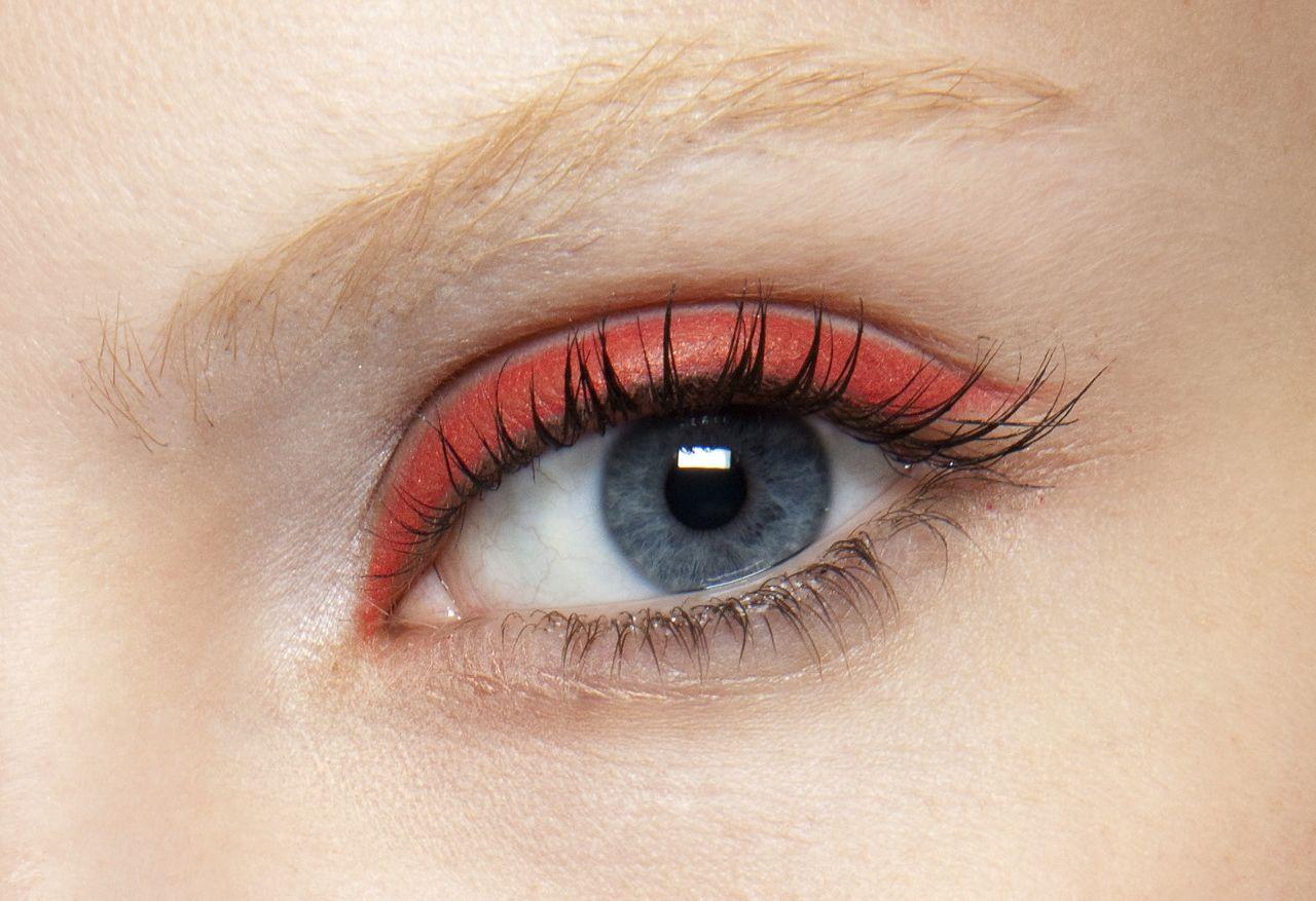 Derek Lam SS11 - red eyeliner