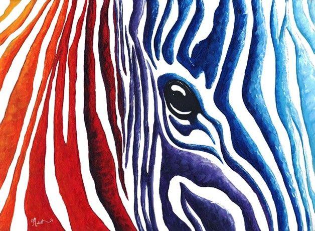 Abstract PoP Art Original Zebra Painting MADART Own the Original ...