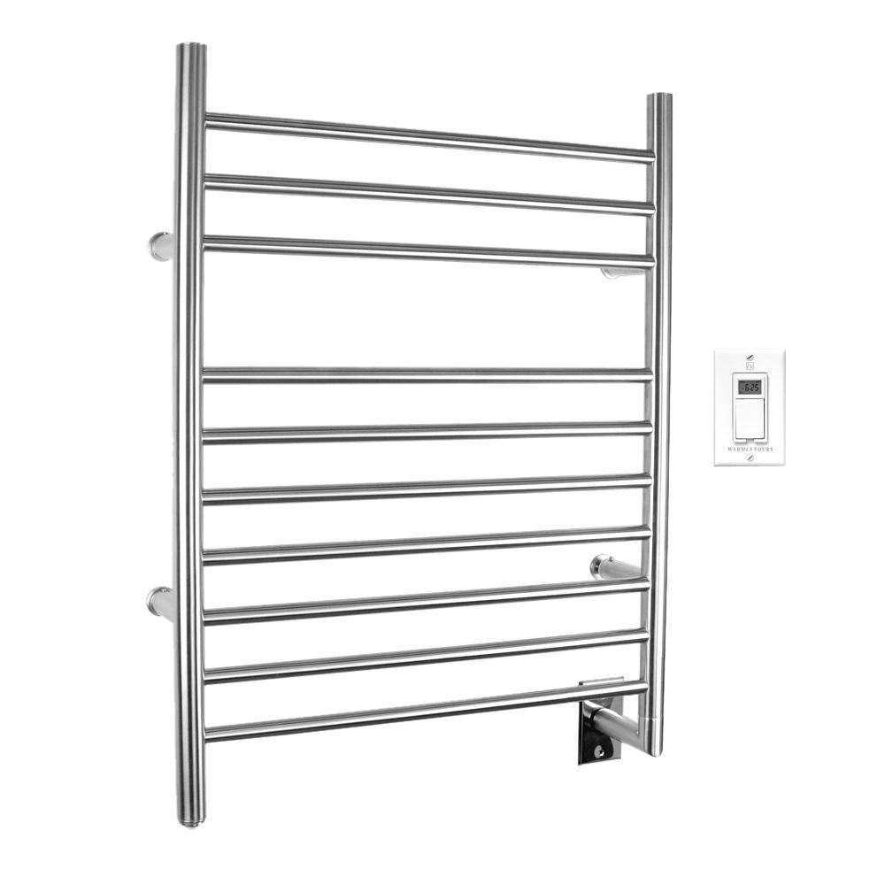 This Product Will Turn Your Bathroom Into A Spa Towel Warmer Brushed Stainless Steel Towel