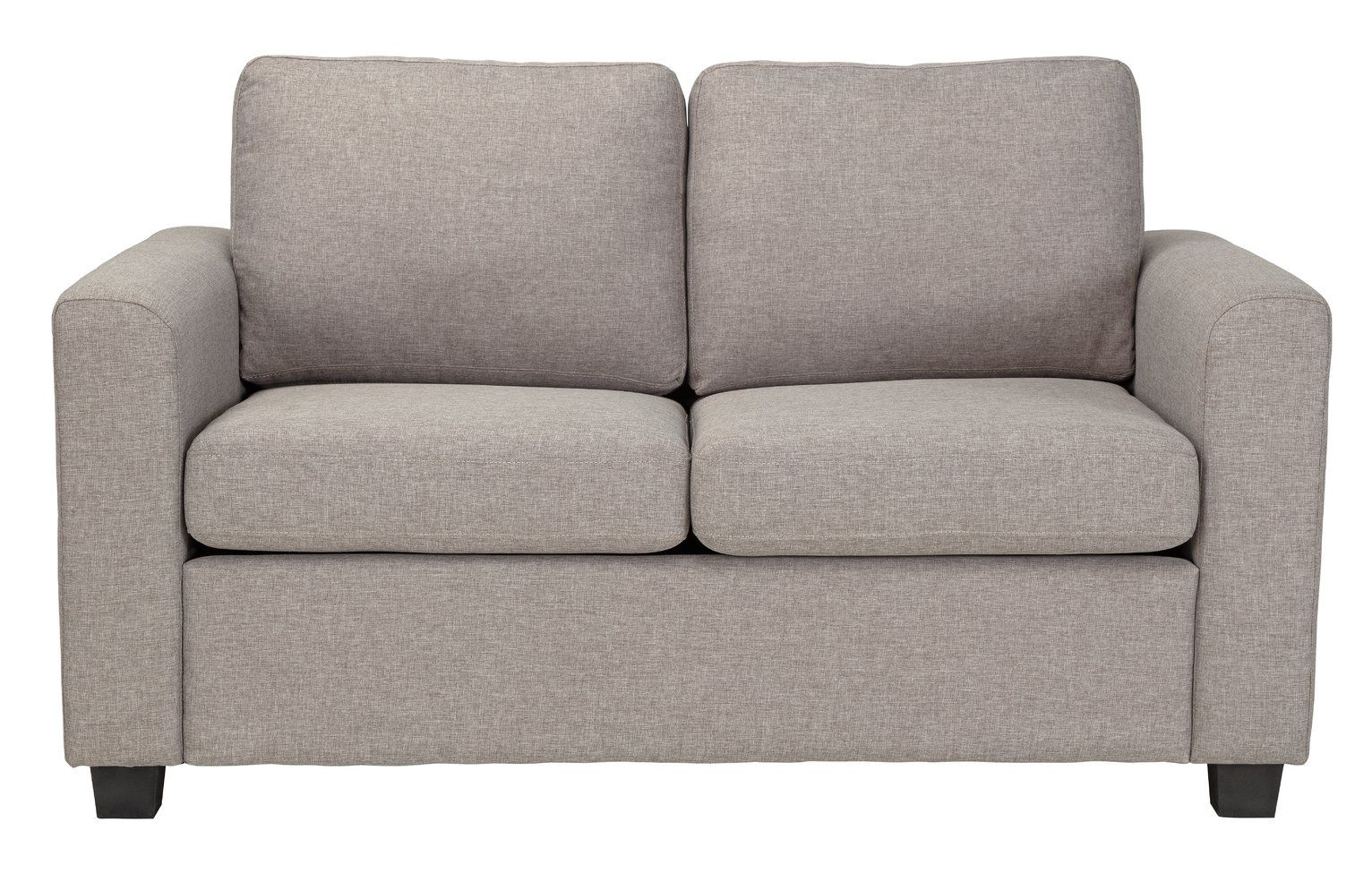 Buy Argos Home Apartment 2 Seater Fabric Sofa Bed Light Grey