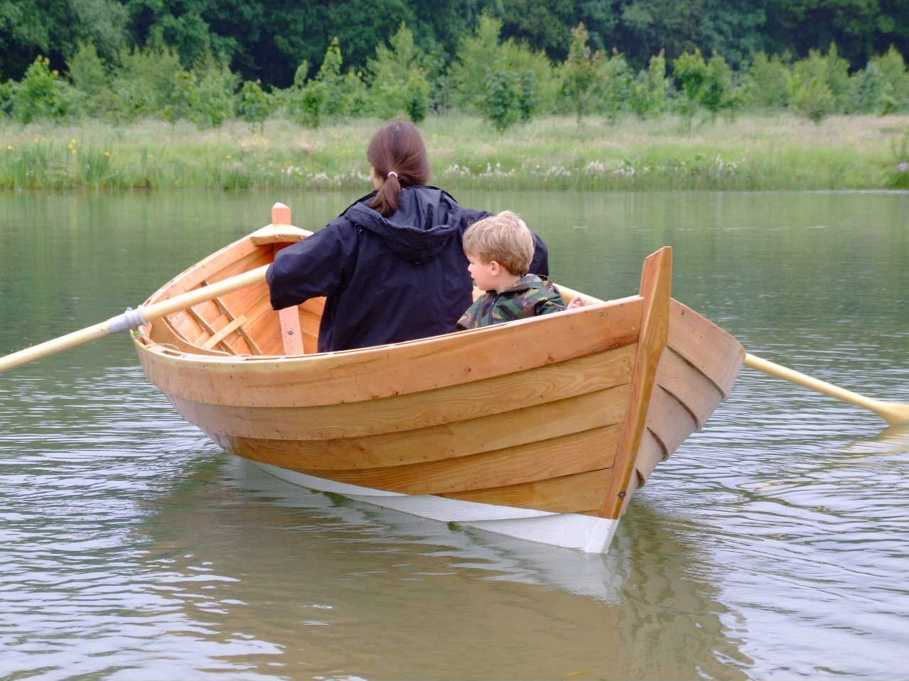 wooden boats | double-ended 15ft rowing boat built by Adrian Morgan ...