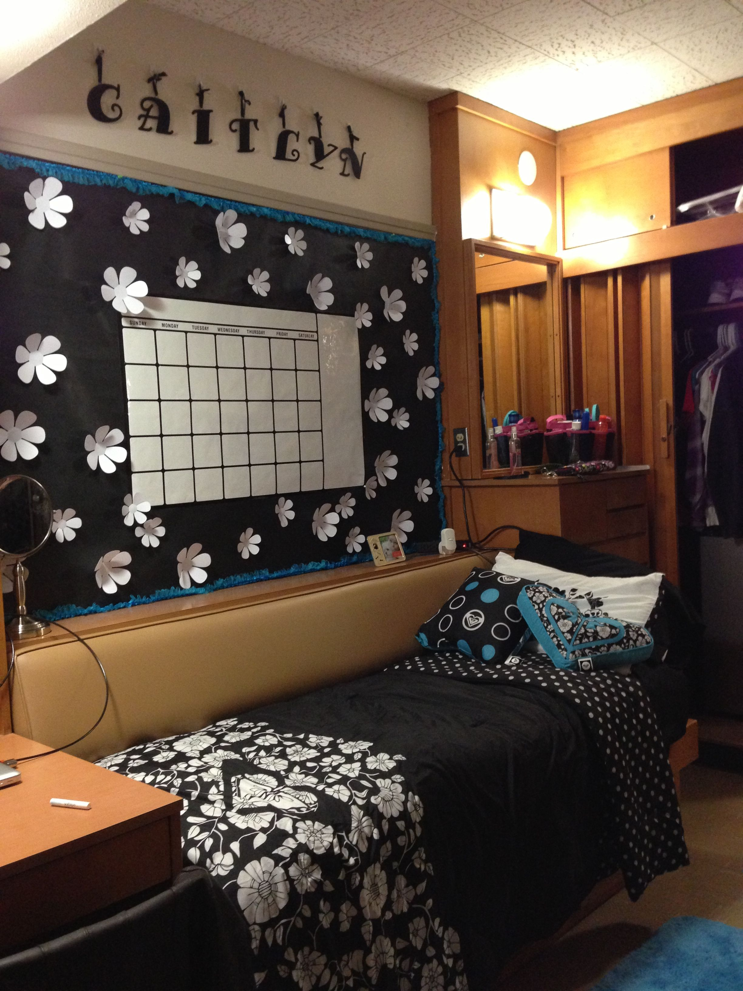 My Hulen/Clement Dorm Room At Texas Tech Good View Of The Dresser, Closet  And Upper Storage.