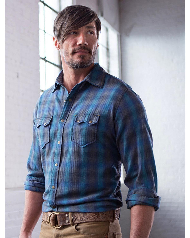 Flannel shirt with shorts men  Ryan Michael Menus Lagoon Heather Ombre Plaid Shirt  CQM LAGOON