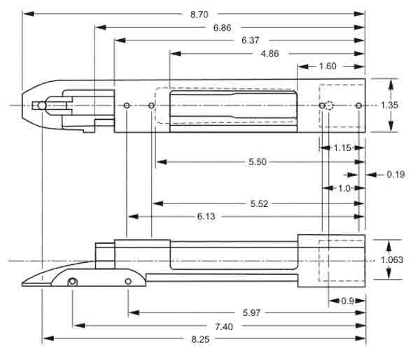 remington_700_blueprint | bolt guns | Remington 700, Knife making, Guns