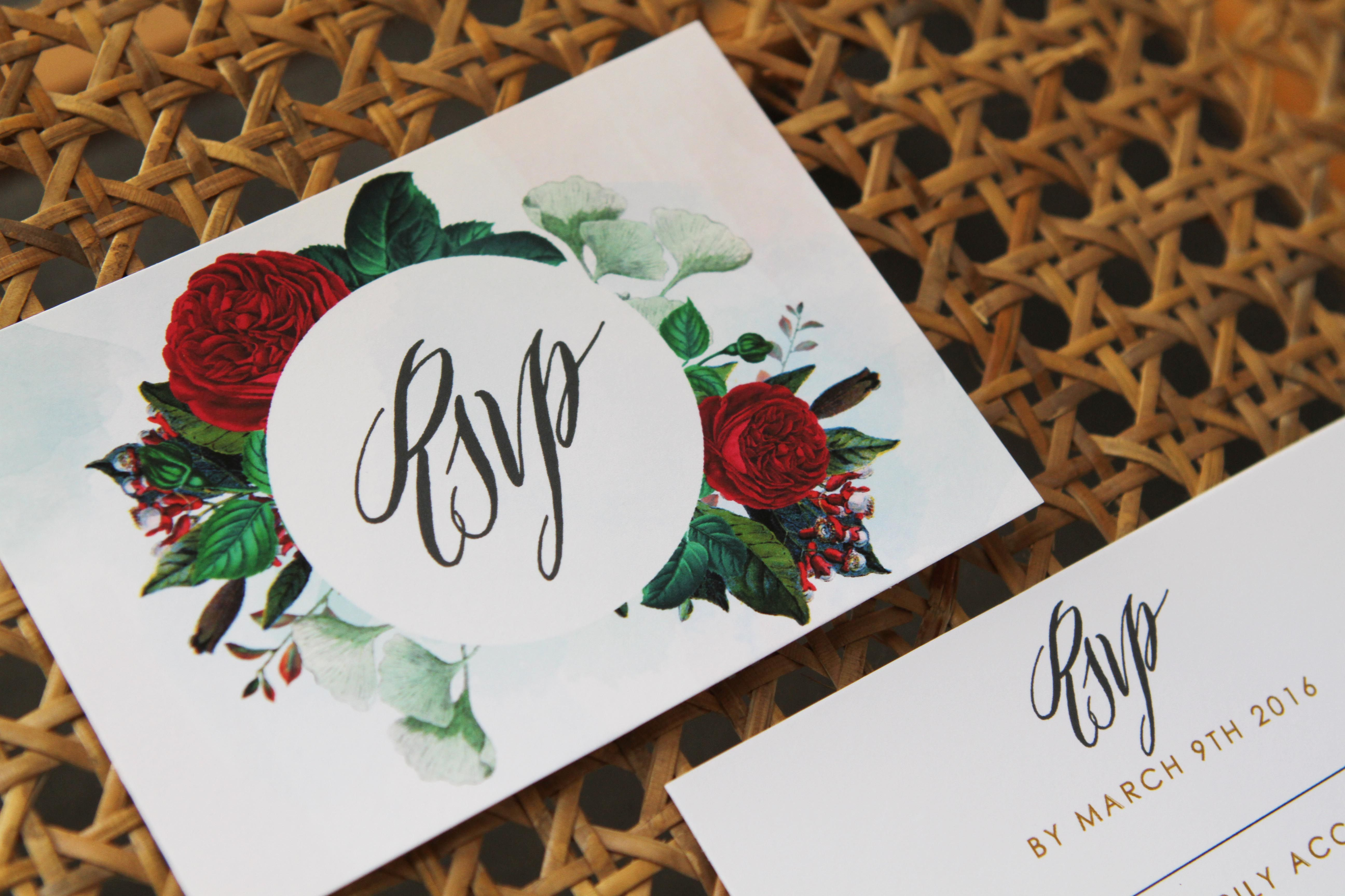 Marsala Love - Ruby Red Invitations by Sail and Swan | Ruby red and ...