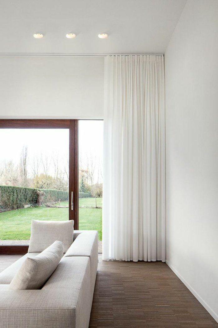 Le rideau voilage dans 41 photos! Salons, Window and Living rooms - couleur pour salon moderne