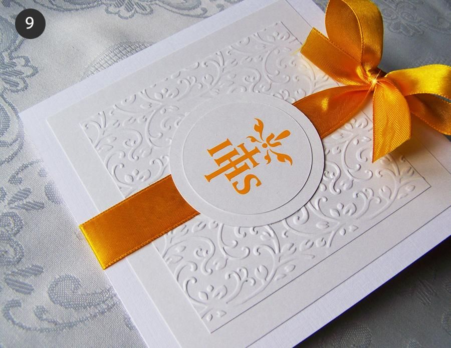 Zaproszenia Na Komunie Komunijne Recznie Robione 5091217926 Oficjalne Archiwum Allegro Cardmaking Handmade Invitations Communion Invitations