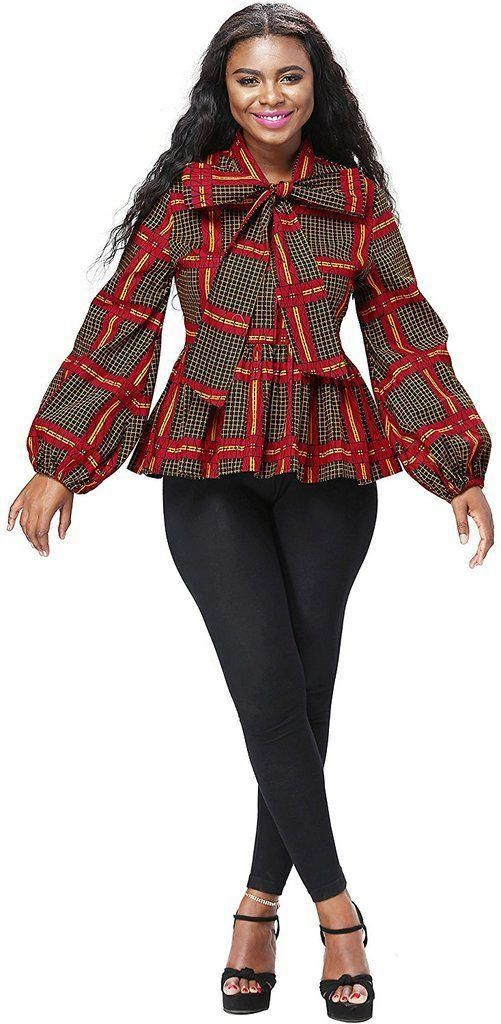 Dashki Fabric African Fashion Ankara Kitenge African: Women African Print Top Dashiki Long Ankara Sleeves Shirt