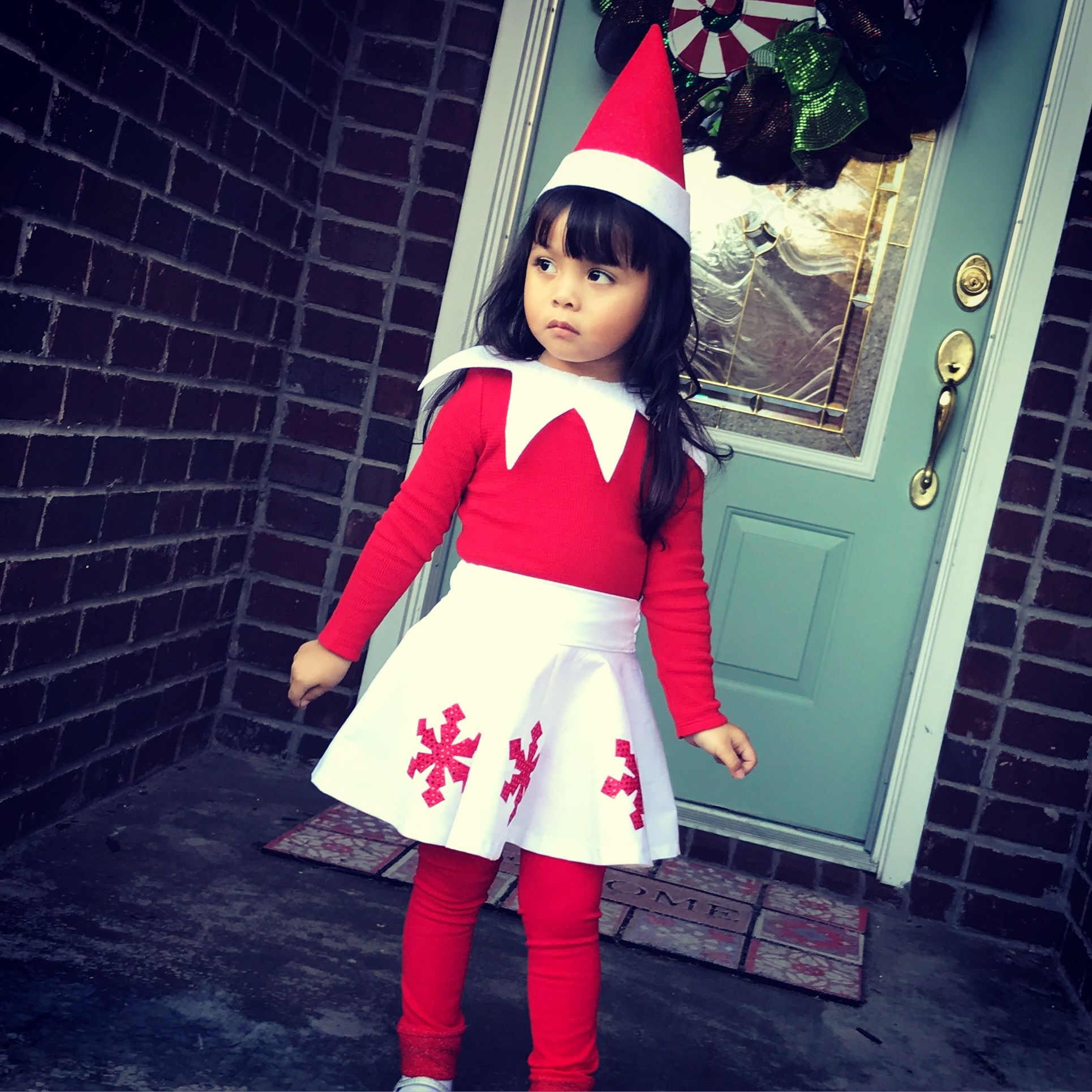 ELF ON THE SHELF DIY COSTUME! I used a pattern from the