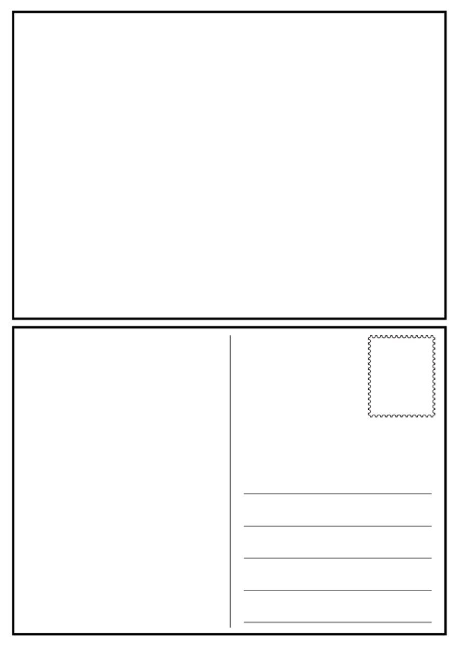 40 Great Postcard Templates Designs Word Pdf ᐅ In Free Blank Postcard Template For Word B Postcard Template Free Printable Postcards Postcard Template