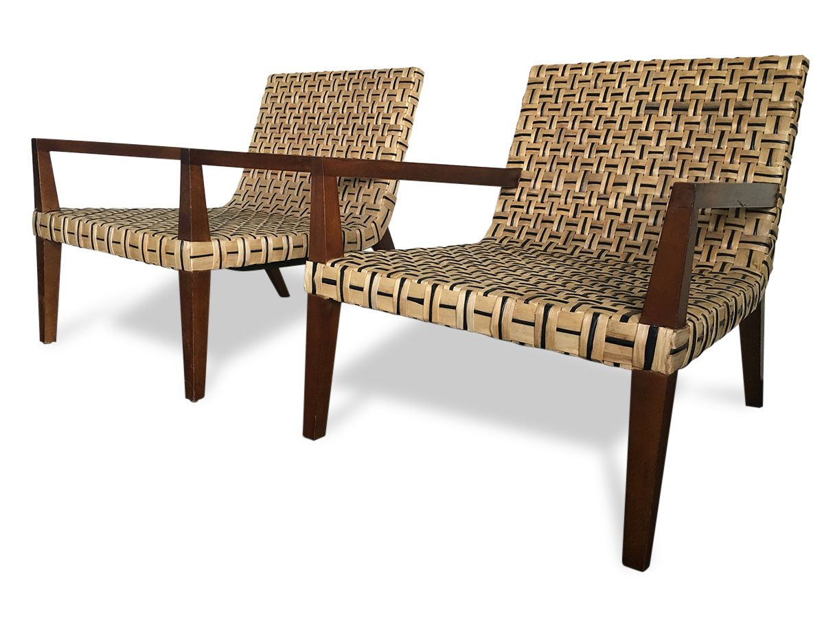 Enjoyable Pair Stylish Vintage Xl Banana Leaf Lounge Chairs Beatyapartments Chair Design Images Beatyapartmentscom