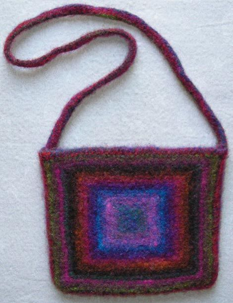 Cool Knitted And Felted Purse Knitted Love Pinterest Felting