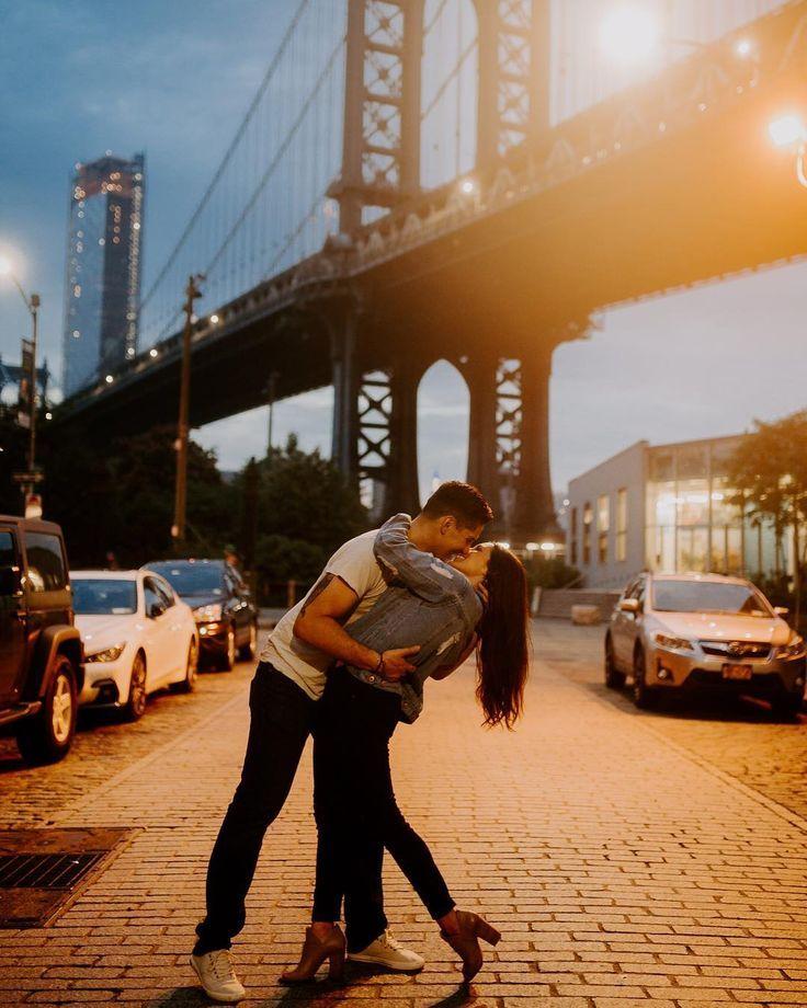 , Manhattan #Bridge #// #Couples #// #Engagement #Shoot #// #New #York #Instagram, Travel Couple, Travel Couple