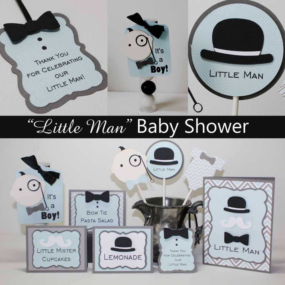 Little Man Food Labels - Baby Shower or First Birthday, mustache ...