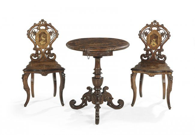 Three-Piece Black Forest Parlor Group : Lot 227
