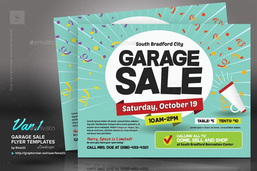 Garage Sale Flyer Templates  Flyers    Sale Flyer And