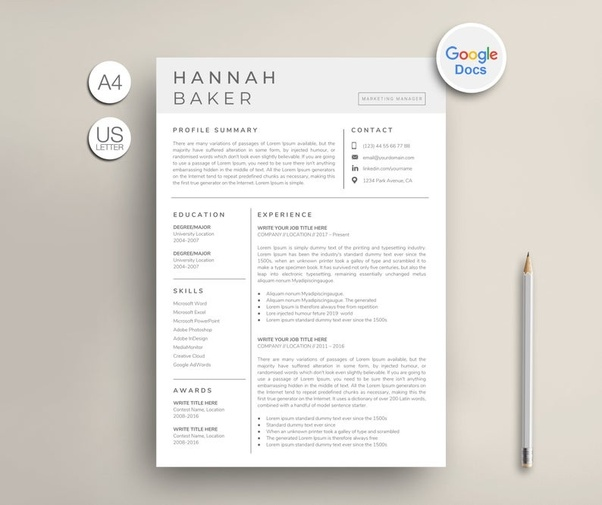 (3) How can you make a resume on Google Docs? - Quora | How to make resume, Google docs, Resume