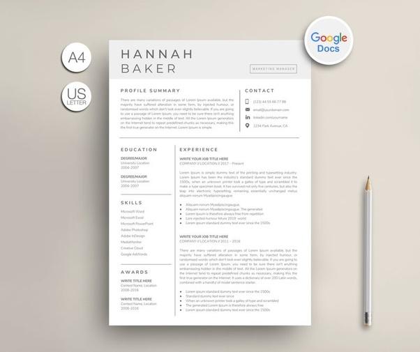 Make A Resume On Google Docs