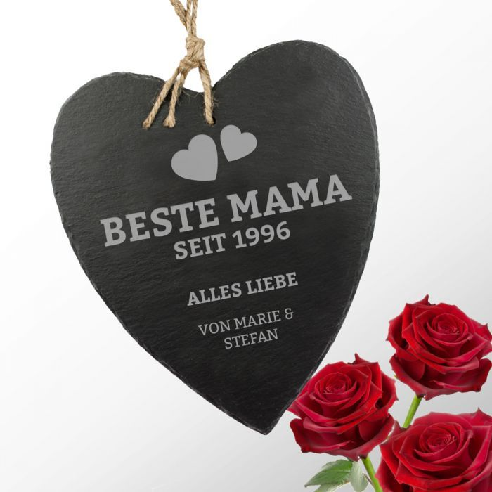 beste mama schieferherz mit gravur geschenke f r m tter pinterest. Black Bedroom Furniture Sets. Home Design Ideas