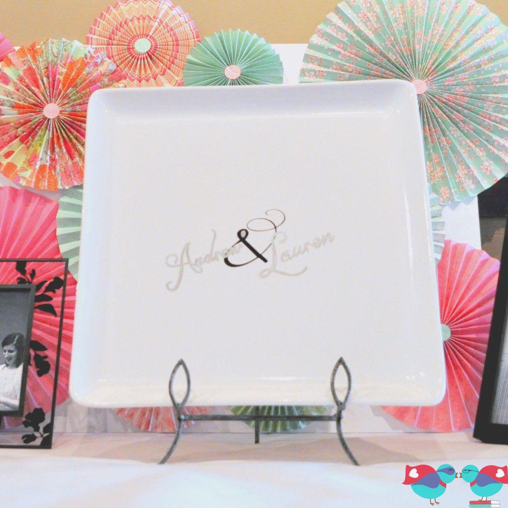 Cute Wedding Guest Book Ideas: DIY Wedding Guest Book Plate