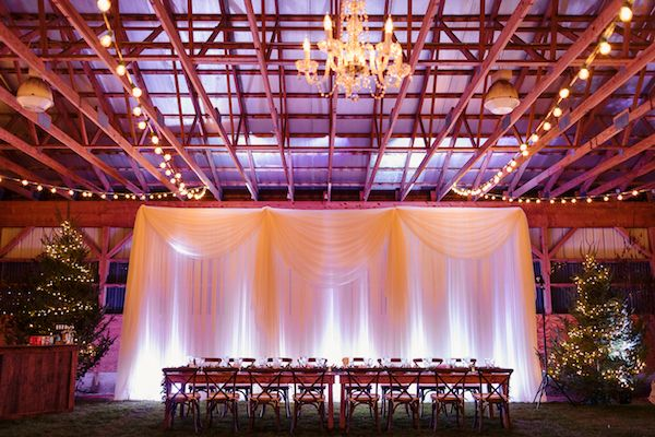 Head Table Draping And Lighting By Maine Event Design Decor