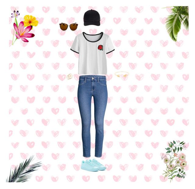 """""""Hanging out with friends"""" by luve48 ❤ liked on Polyvore featuring adidas, Topshop, Miss Selfridge and Lord & Taylor"""