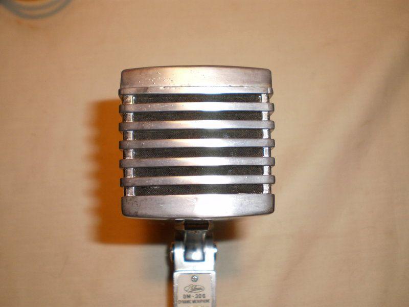 vintage dm 306 teisco palmer dynamic mic dm306 microphone cb base ham radio pa retro. Black Bedroom Furniture Sets. Home Design Ideas