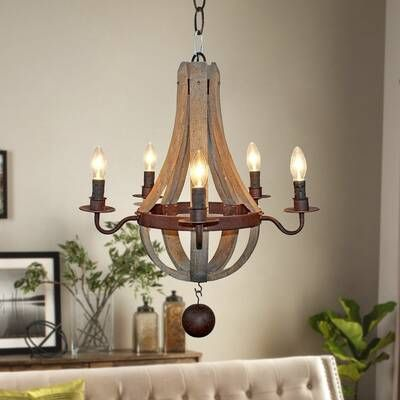 Laurel Foundry Modern Farmhouse Sylvie 6-Light Candle Style Empire Chandelier & Reviews | Wayfair