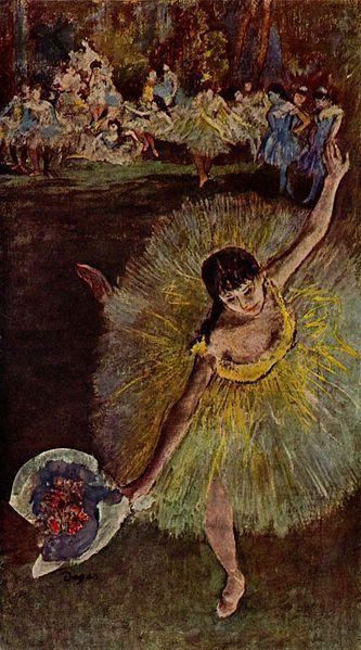 """""""Fin d'Arabesque,"""" with ballerina Rosita Mauri, by Edgar Degas (1877)"""