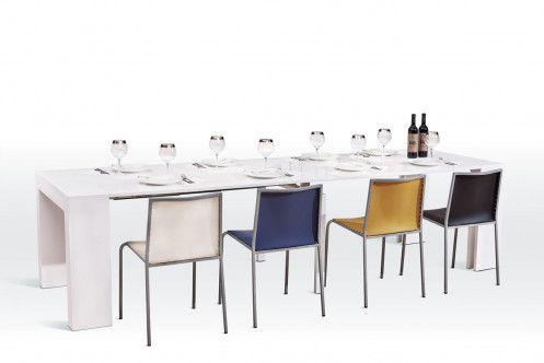 versus doreen modern white extendable dining table for the home rh pinterest com
