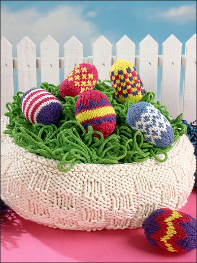 Knitting holiday seasonal patterns easter patterns easter knitting holiday seasonal patterns easter patterns easter basket eggs negle Images