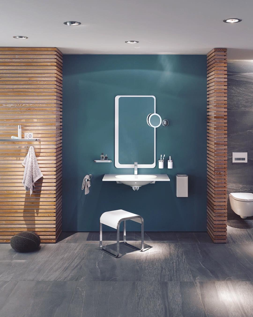 Barrierefreies Bad Planen Zuschusse Din Masse Gestaltungstipps Barrierefrei Bad Wohnen Dunkelblaues Badezimmer
