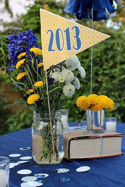 Table decorations usna 2015 graduation ideas pinterest for 2015 graduation decoration ideas