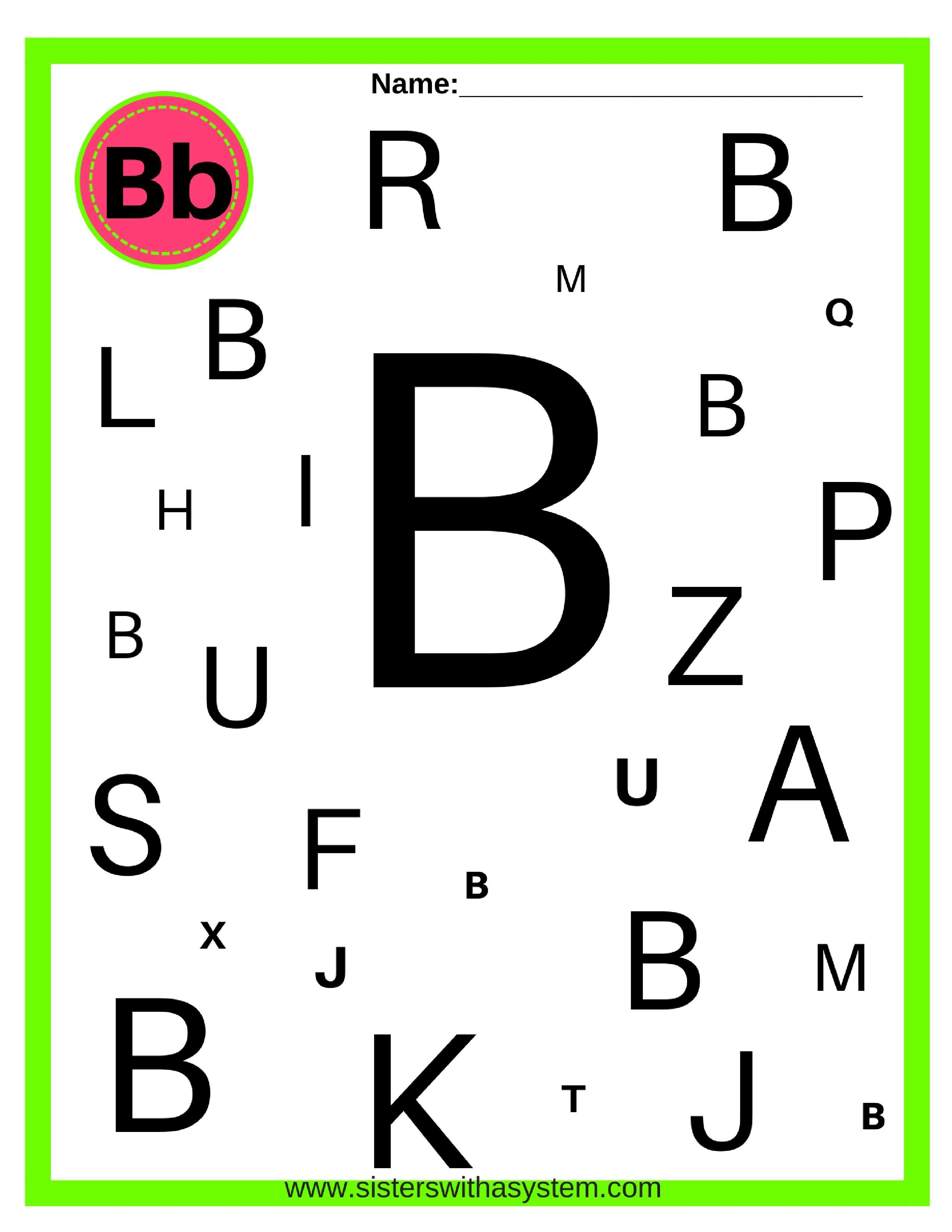 Alphabet Look And Find Sheets