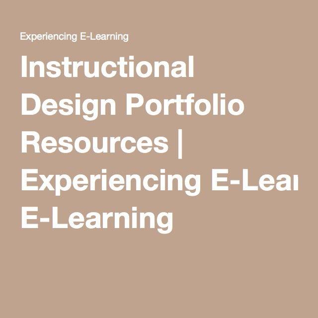 Instructional Design Portfolio Resources
