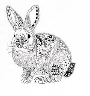 efie goes zentangle ben kwok rabbit