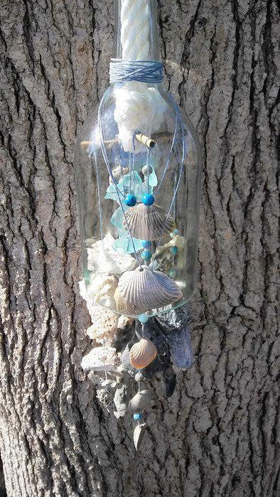 Seashell Wind Chime Beach Wedding Gift Garden Ocean Decor Gl Wine Bottle Sea Shell Porch Hang Boho Mobile