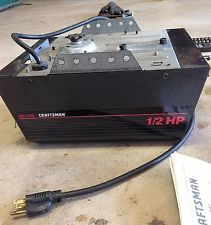 Craftsman Garage Door Opener 139 53615sr 1 2 Hp Motor Unit Not