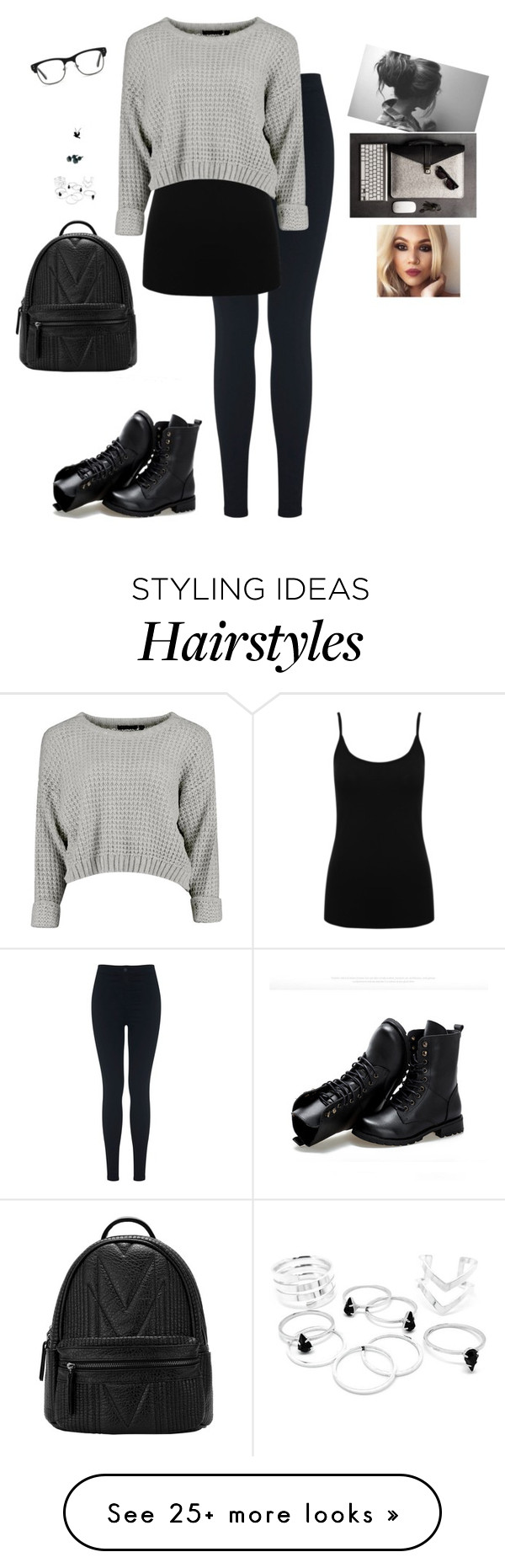 """""""Hard Worker"""" by hanakdudley on Polyvore featuring Miss Selfridge, M&Co, GlassesUSA and Sunsteps"""