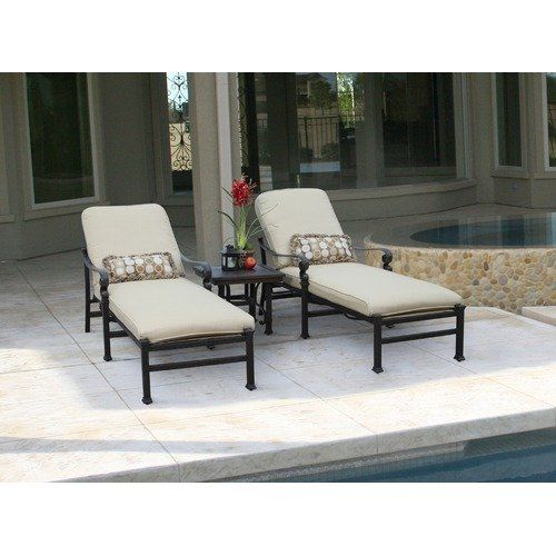 Attractive Foremost Meridian 3 Piece Chaise Lounge Set