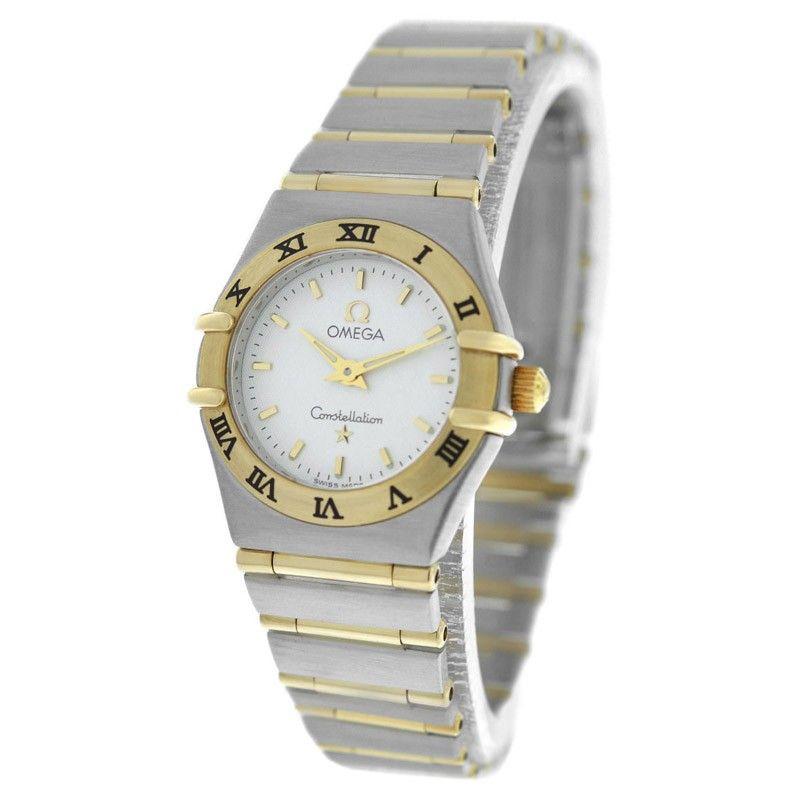 Omega Omega Constellation Mini 18K Gold Steel Full Bar Quartz Ladies Watch   TrueFacet