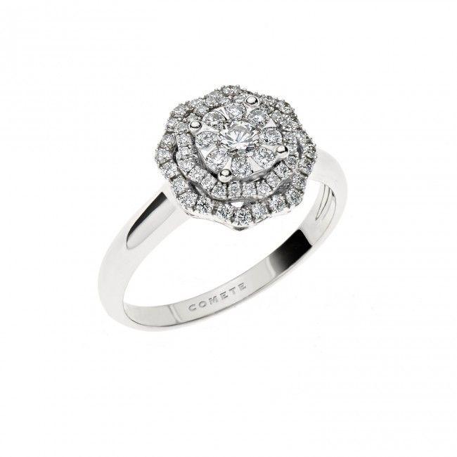 ANB 1855 Oro 750 ‰ . Diamanti P.Ct. 51Col. G Purezza SI . Zaffiro blu Ct. 0,01  #CometeGioielli   Gioielli Sposa Collezione Lumiere