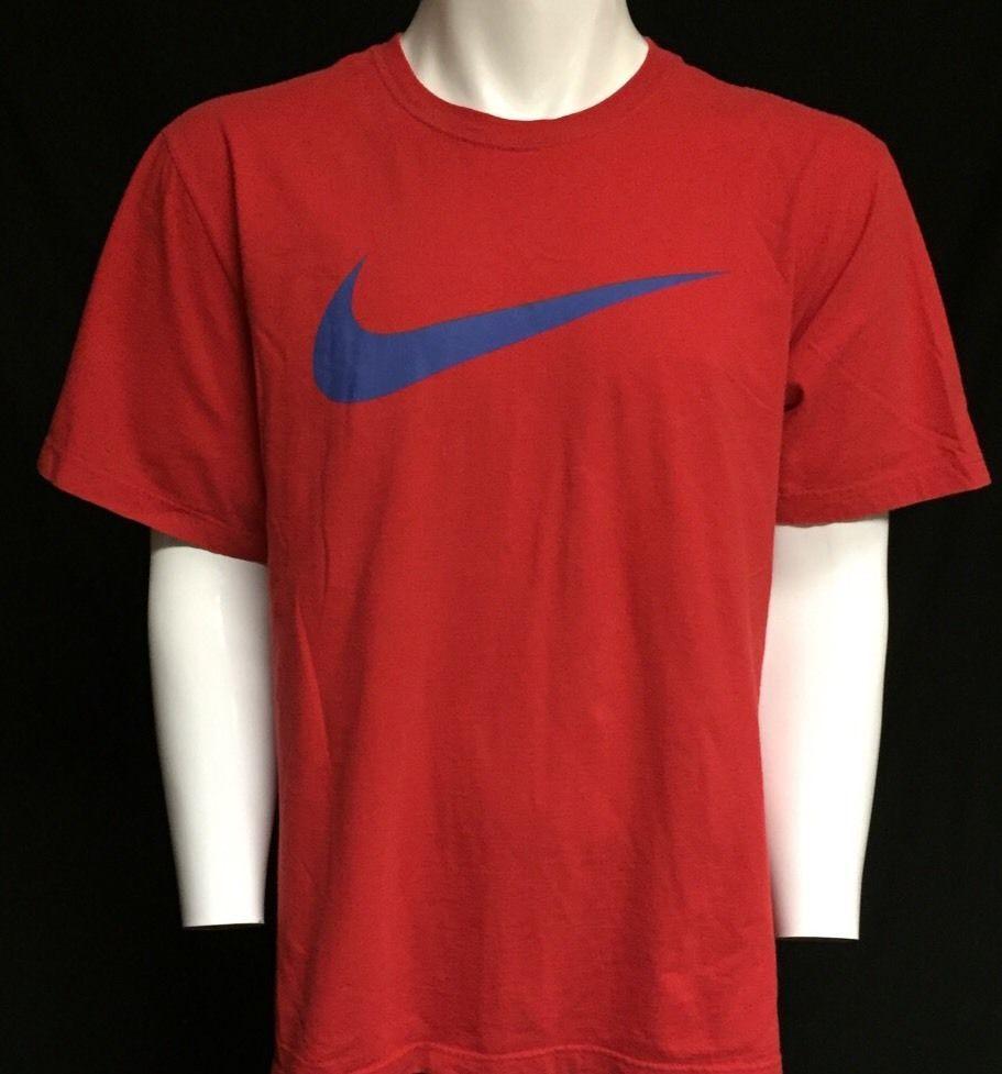 d521b602 NIKE Swoosh Logo Red XXL Short Sleeve Tee T-Shirt 2XL #Nike #GraphicTee
