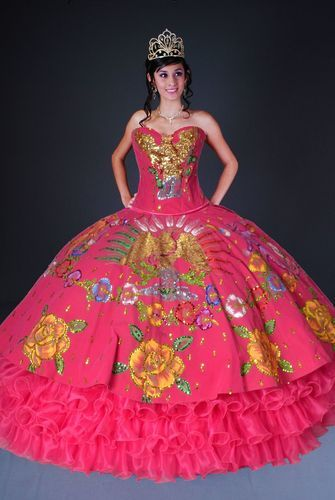 fbdff33df4e This quinceanera charra china poblana is a very folkloric dress style
