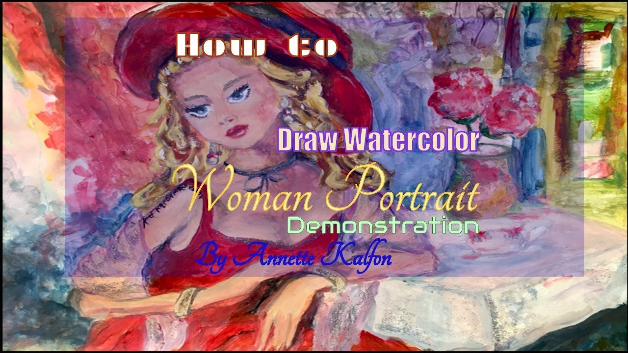 How to Draw Watercolor Woman Portrait Demonstration
