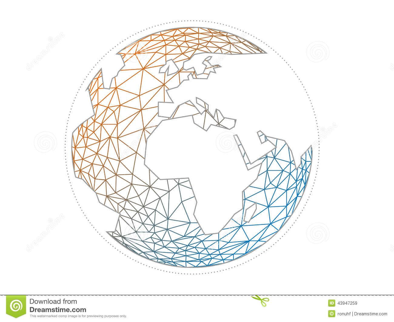 Colorful Geometric Abstract Earth Globe Sphere Vector ... - photo#25